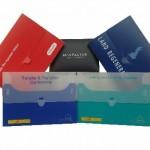 Branded polypropylene wallets with tuck enclosure