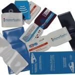 Custom branded travel card wallets for businesses